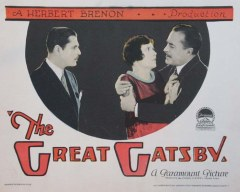 Poster for 1926 version of The Great Gatsby